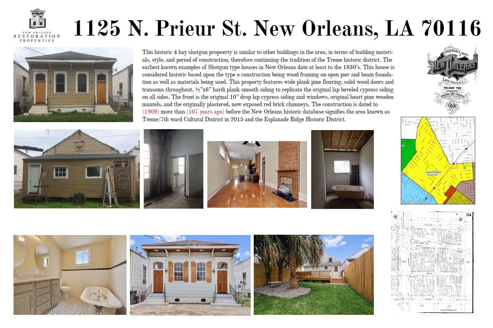 1125 N Prieur St Property Restoration